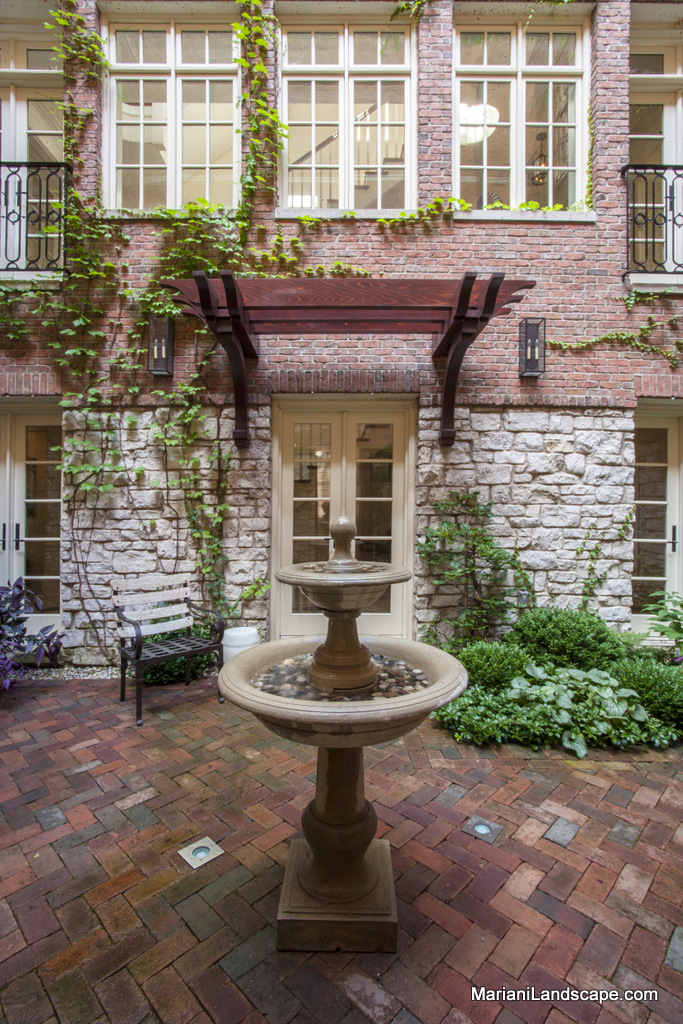 A french courtyard in downtown chicago in the garden for French style courtyard ideas