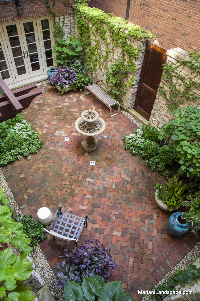 A French Courtyard in Downtown Chicago In the Garden