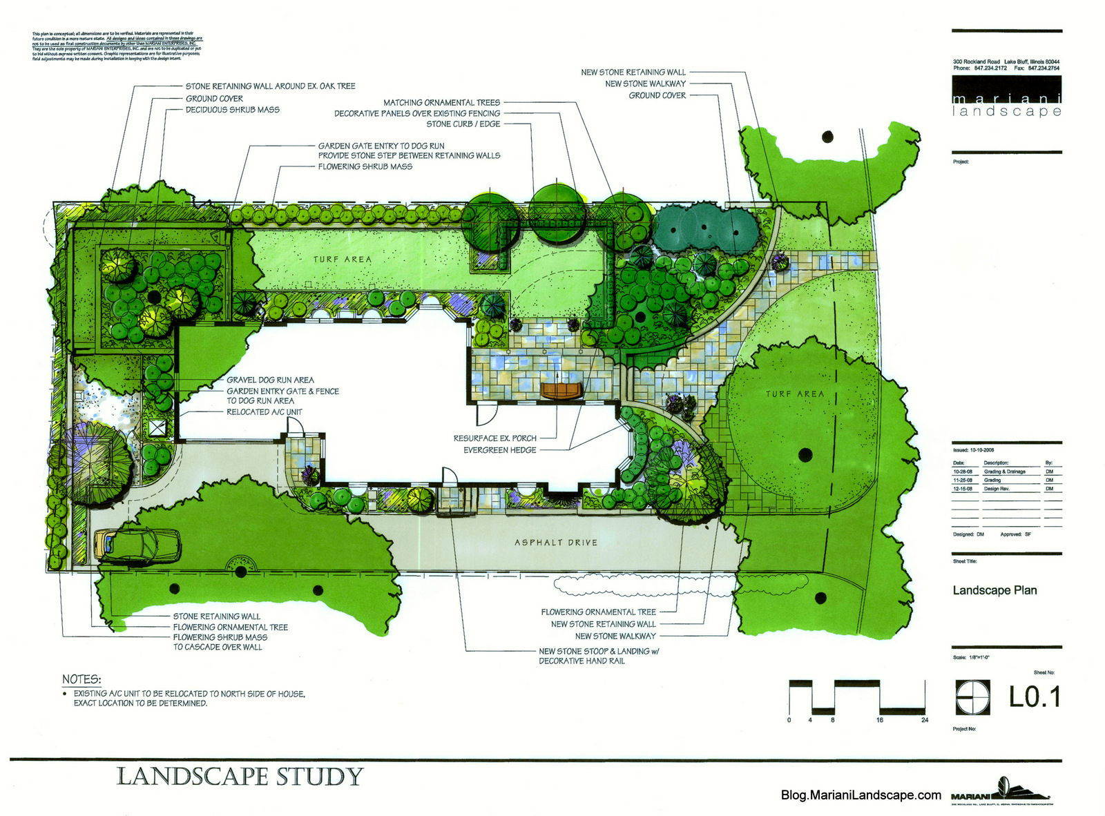 The master plan in the garden with mariani landscape for Landscape garden design plans